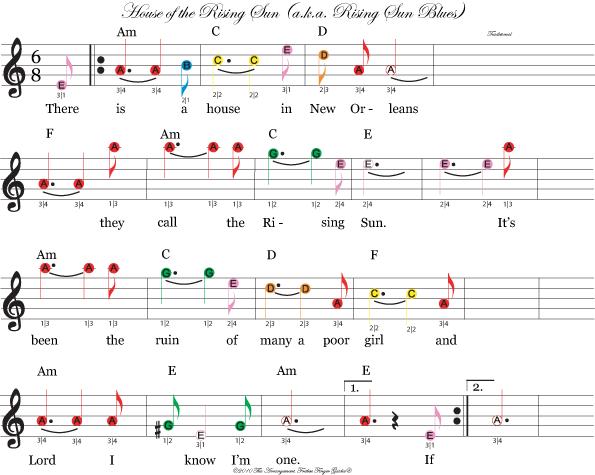 Easy Beginning Violin Fiddle Sheet Music